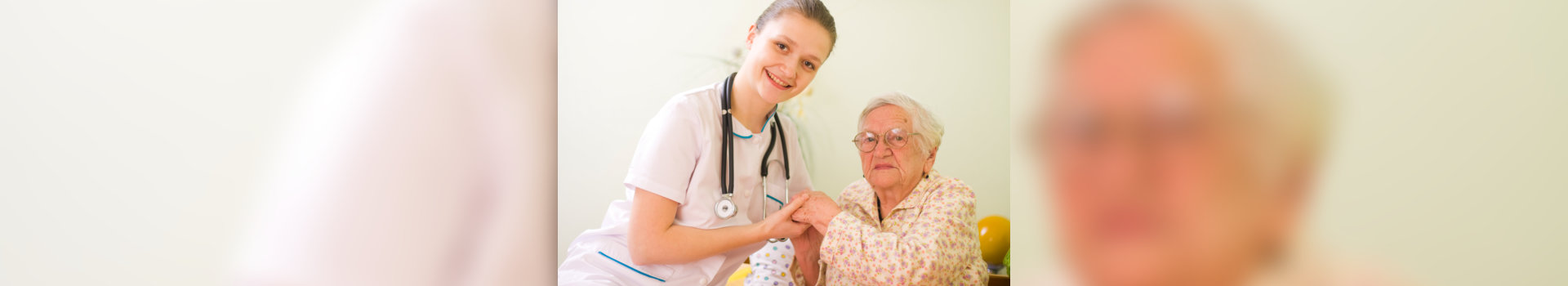 caregiver and old woman