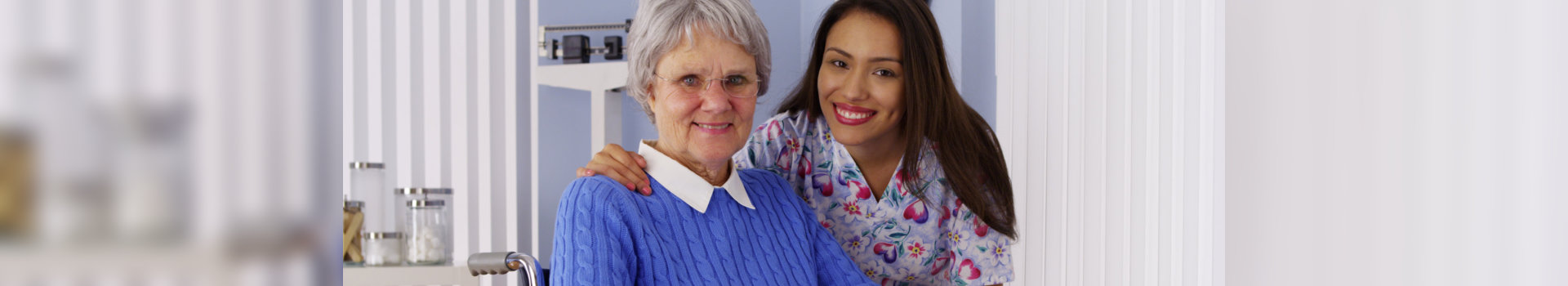 caregiver and her patient